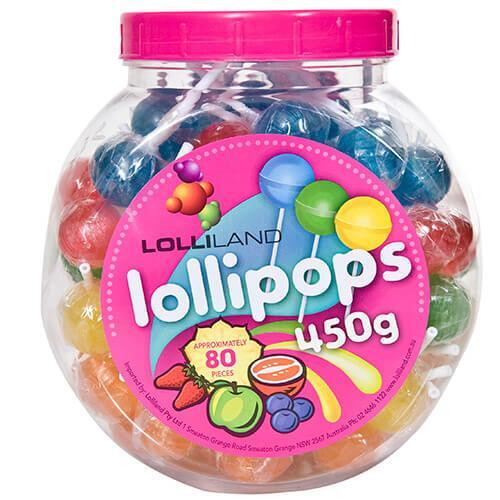 Lollipops Mixed Jar 80 Individually wrapped 450g