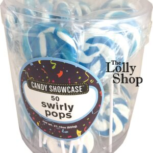Blue Swirly Pops 12g - 600g Pack of 50 - Lolliland