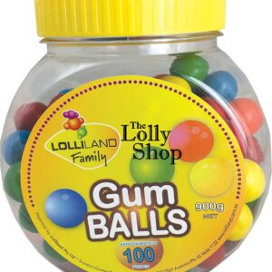 Gum Balls large Multi coloured - 900g Bulk Jar of 100
