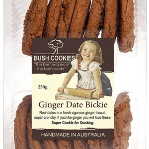 Ginger and Date Biscuits by Bush Cookies 250g