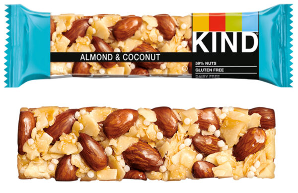 Kind Healthy Nut Bars - Almond & Coconut 12x 40g Pack (Best Before 27/11/20)