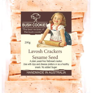 Sesame Seed Lavosh Crackers - 200g Bush Cookies