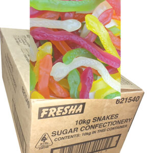 Jelly Snakes 10kg Bulk carton - By Fresha