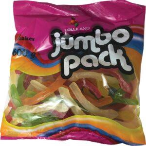Jumbo Pack Snakes 600g Bulk Bag