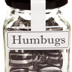 Humbugs Aniseed Boiled Lollies Rock Candy 130g Jars - Each or In Boxes of 12