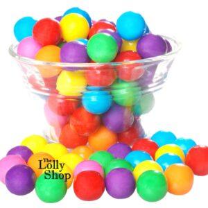 Gum Balls large Multi coloured - 1kg Bulk Lollies Bag