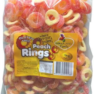 Peach Rings - Gluten Free 1kg Bulk Lollies