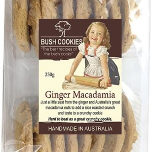 Ginger and Macadamia Biscuits by Bush Cookies 250g